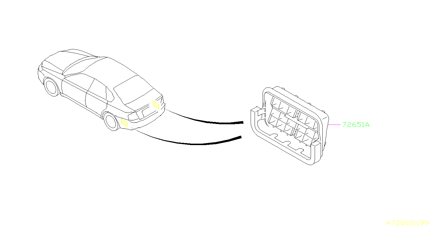 Subaru Outback Quarter Panel Air Vent Grille. SYSTEM