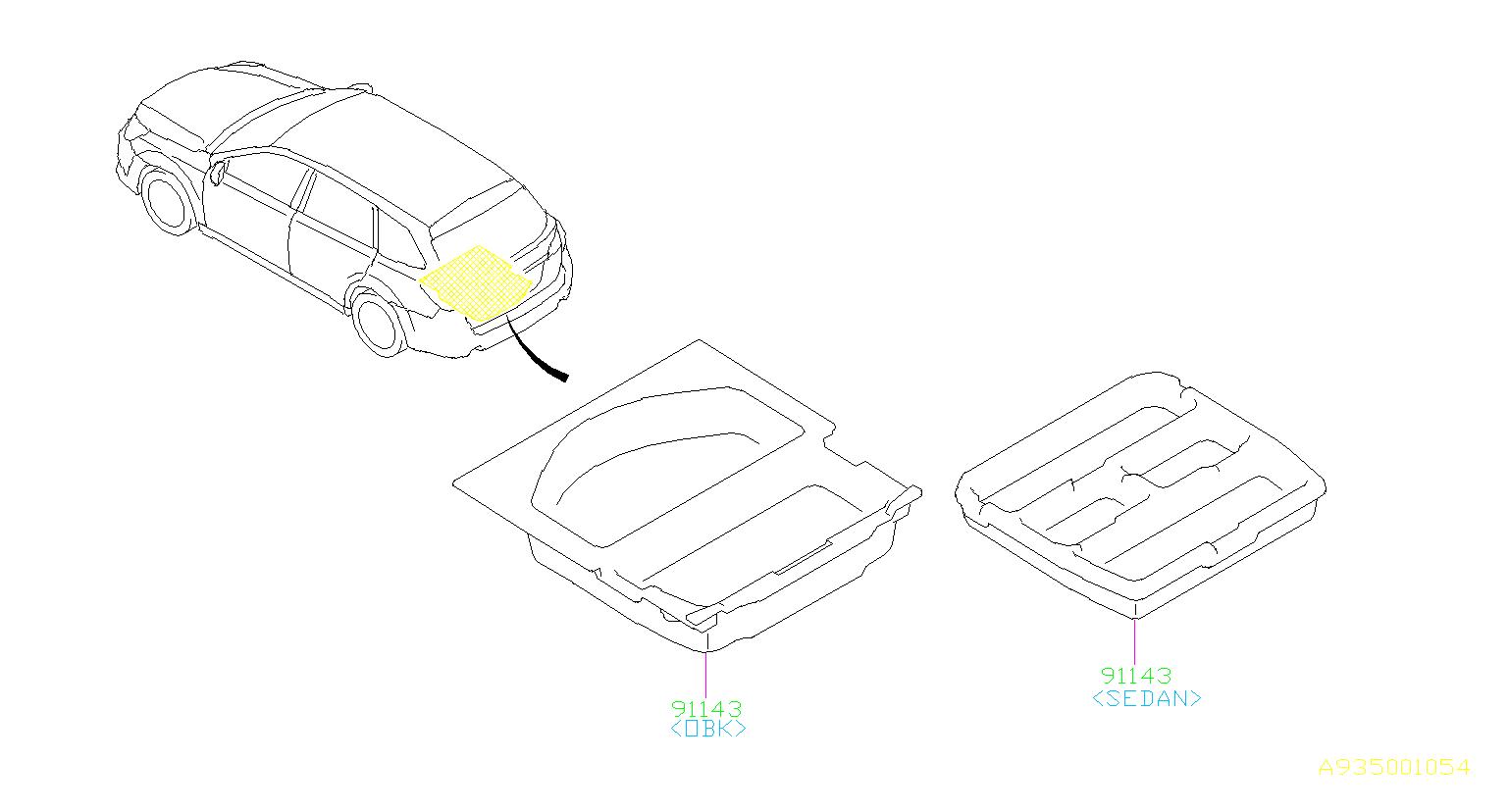 Subaru Legacy Sub Trunk Assembly Interior Cover