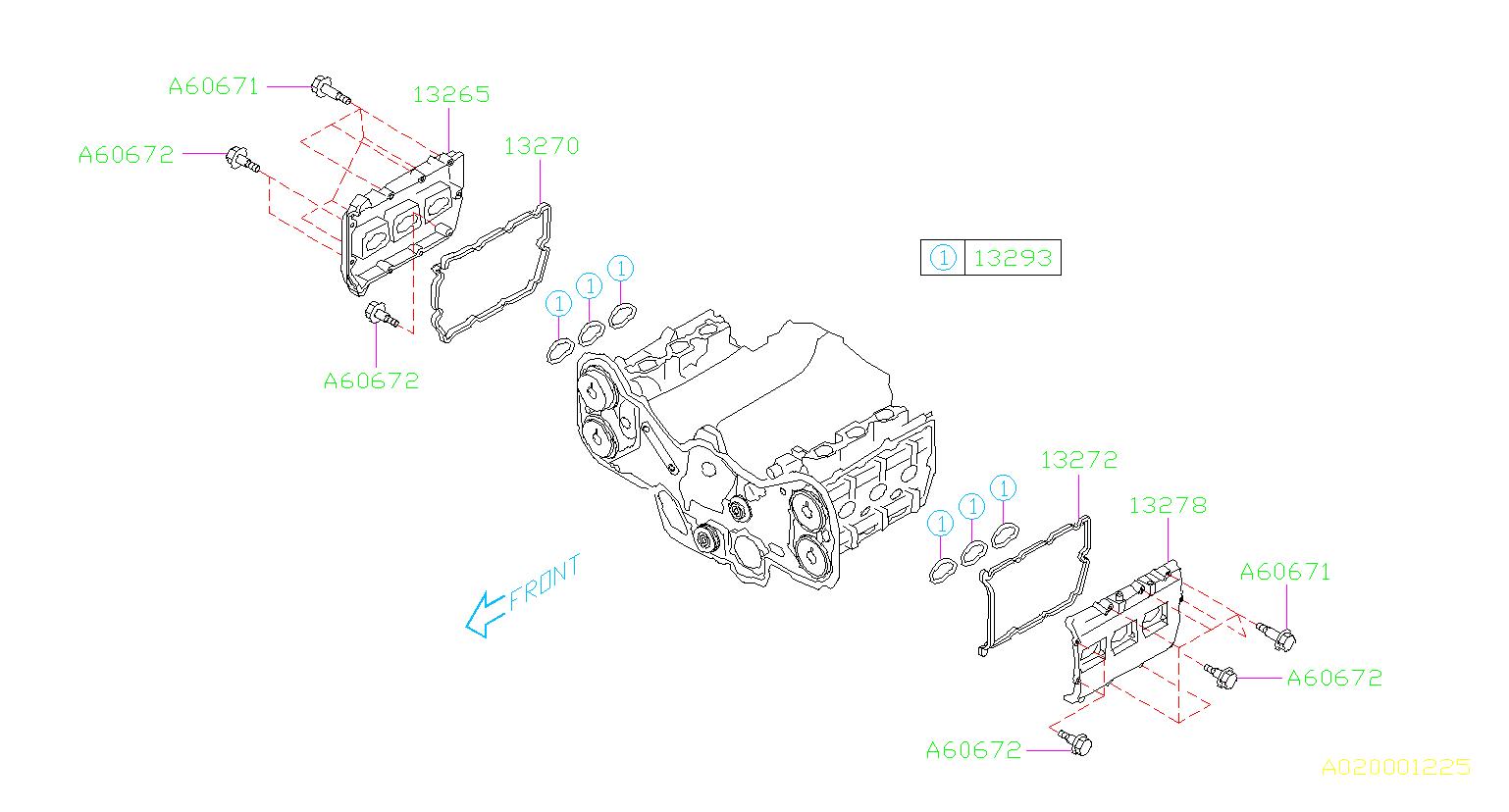 Subaru Legacy Engine Valve Cover Gasket (Left). Gasket