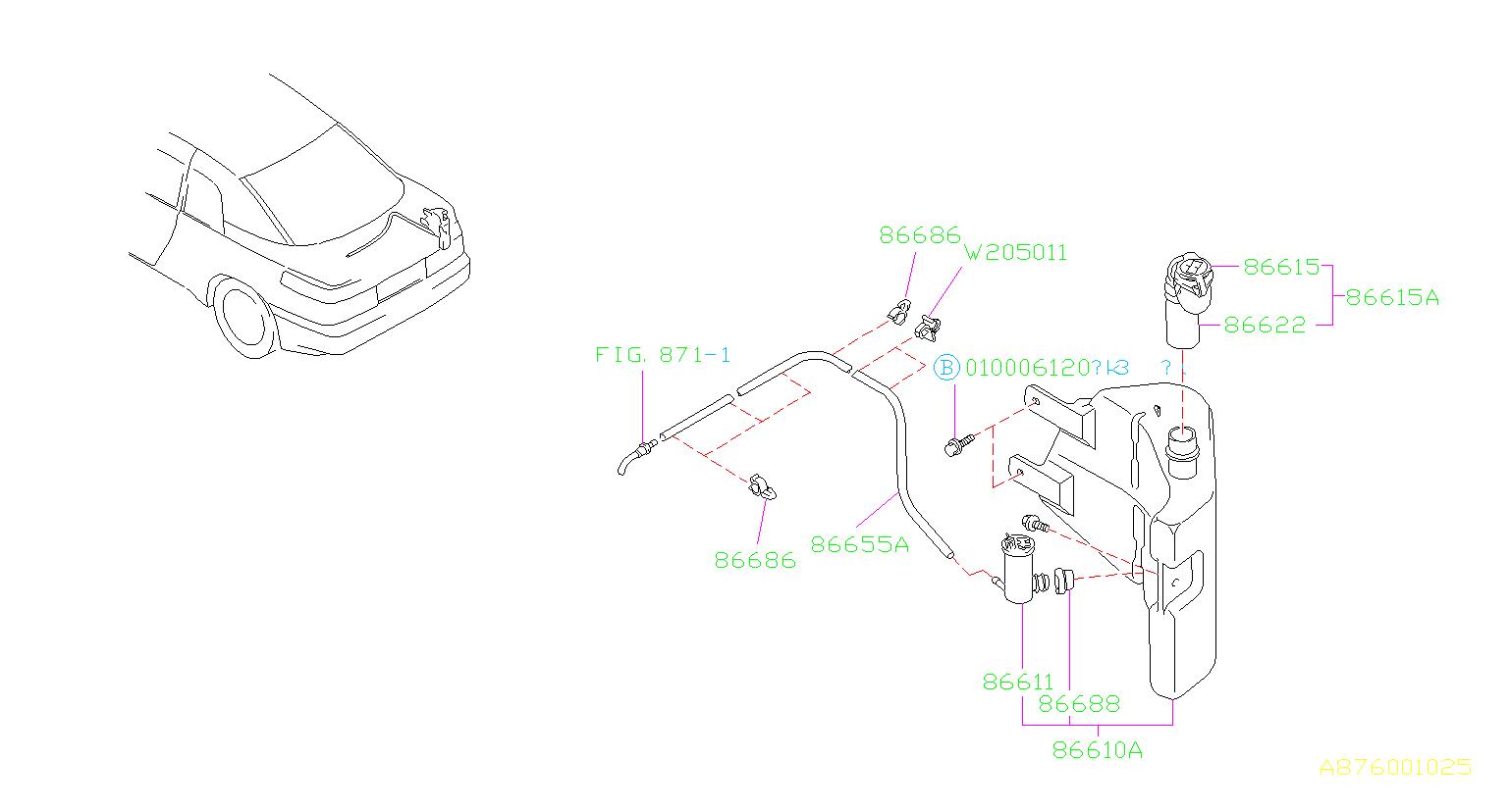 Subaru Svx Clip System Suspension Air