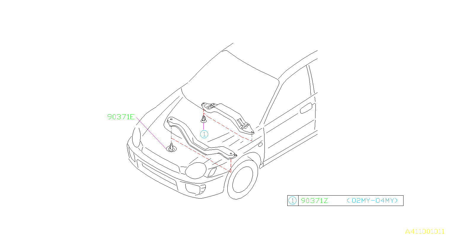 Subaru Impreza Plug-12. Mounting, maintenance, protector
