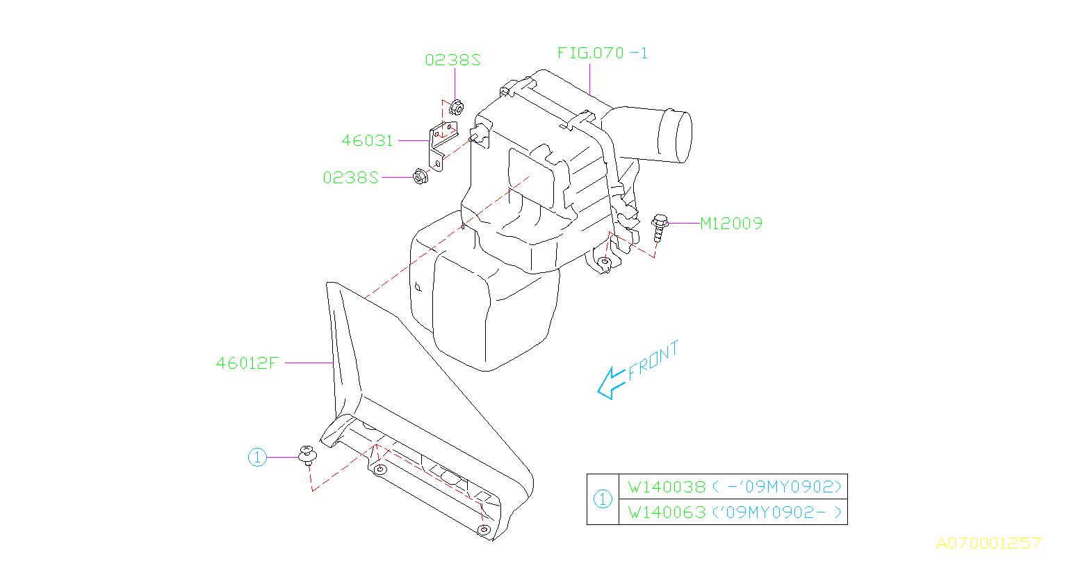 Subaru Impreza Clip 2piece d7. Engine, air, cover
