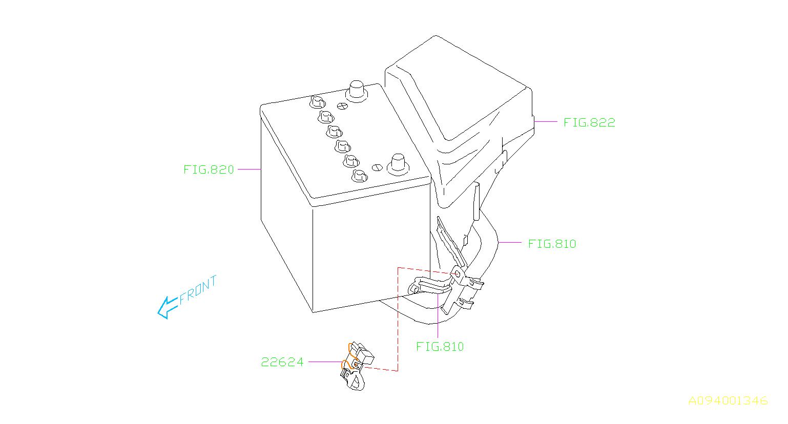 Subaru Crosstrek Sensor and case assembly-temperature