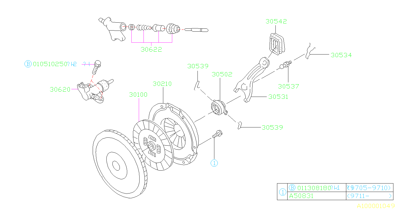Subaru Forester Clutch Slave Cylinder Repair Kit