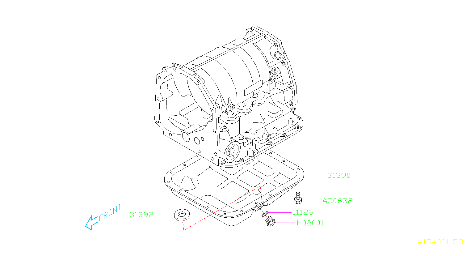 Subaru Forester Automatic Transmission Oil Pan. CASE