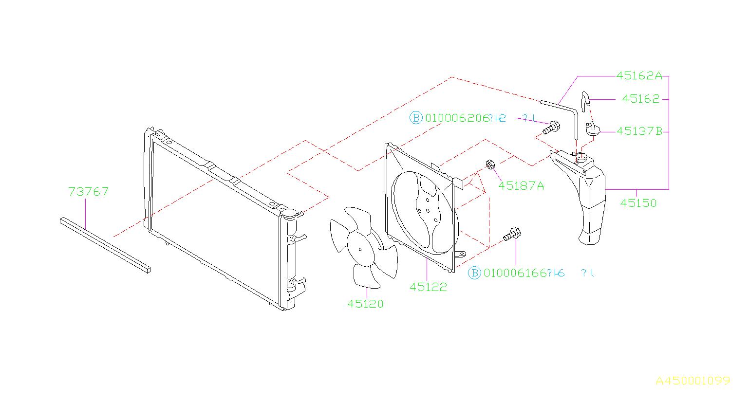 Subaru Forester Engine Cooling Fan Shroud. Radiator, Make