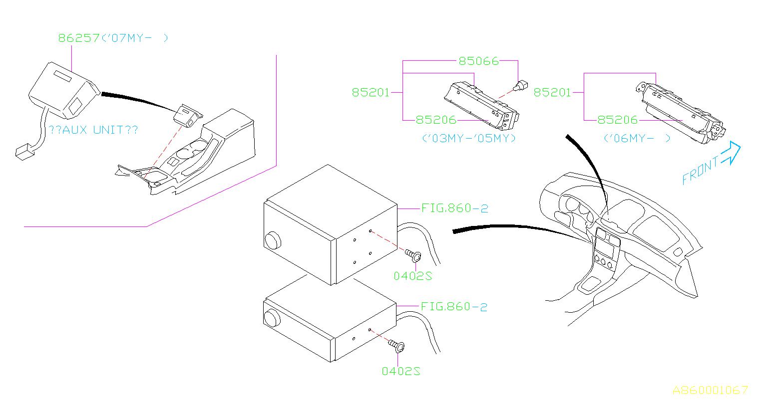 Subaru Forester Bulb-combination meter. Maintenance, bulbs