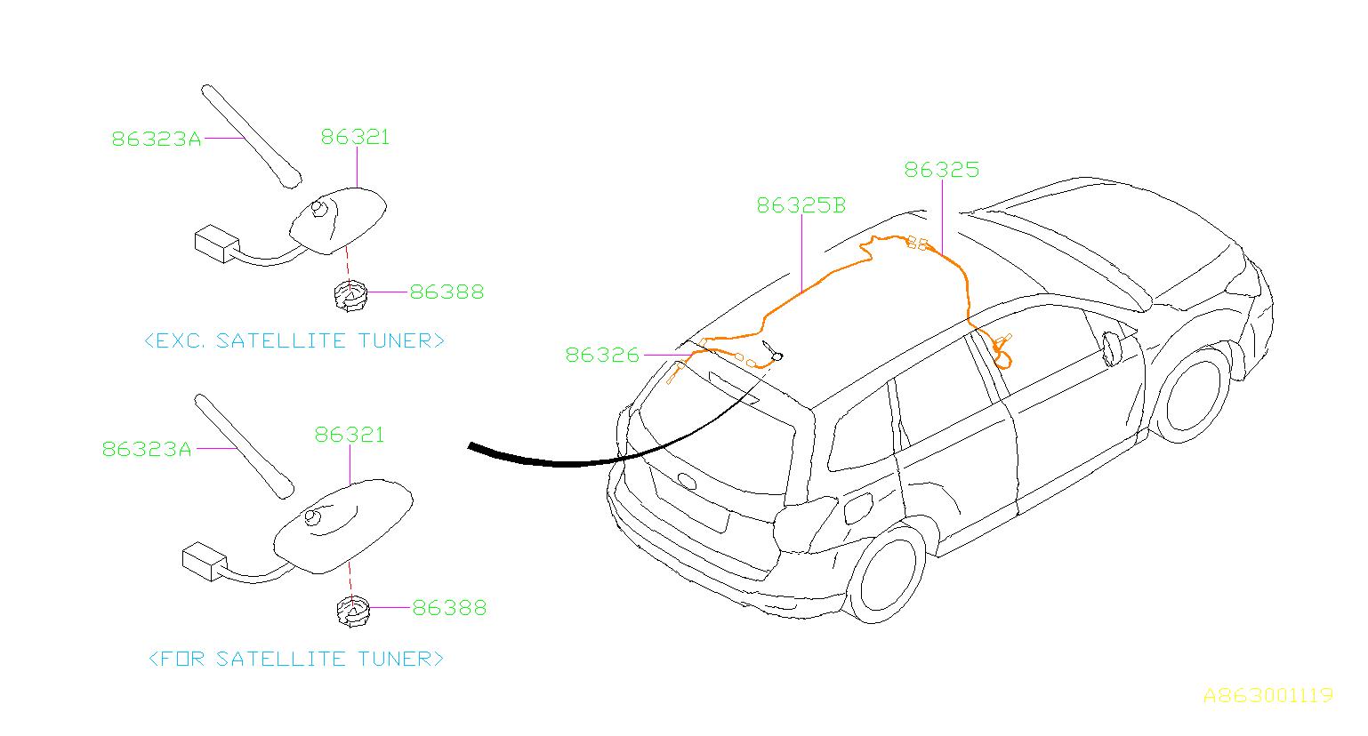 Subaru Forester Antenna assembly-radio. Yokowo, electrical