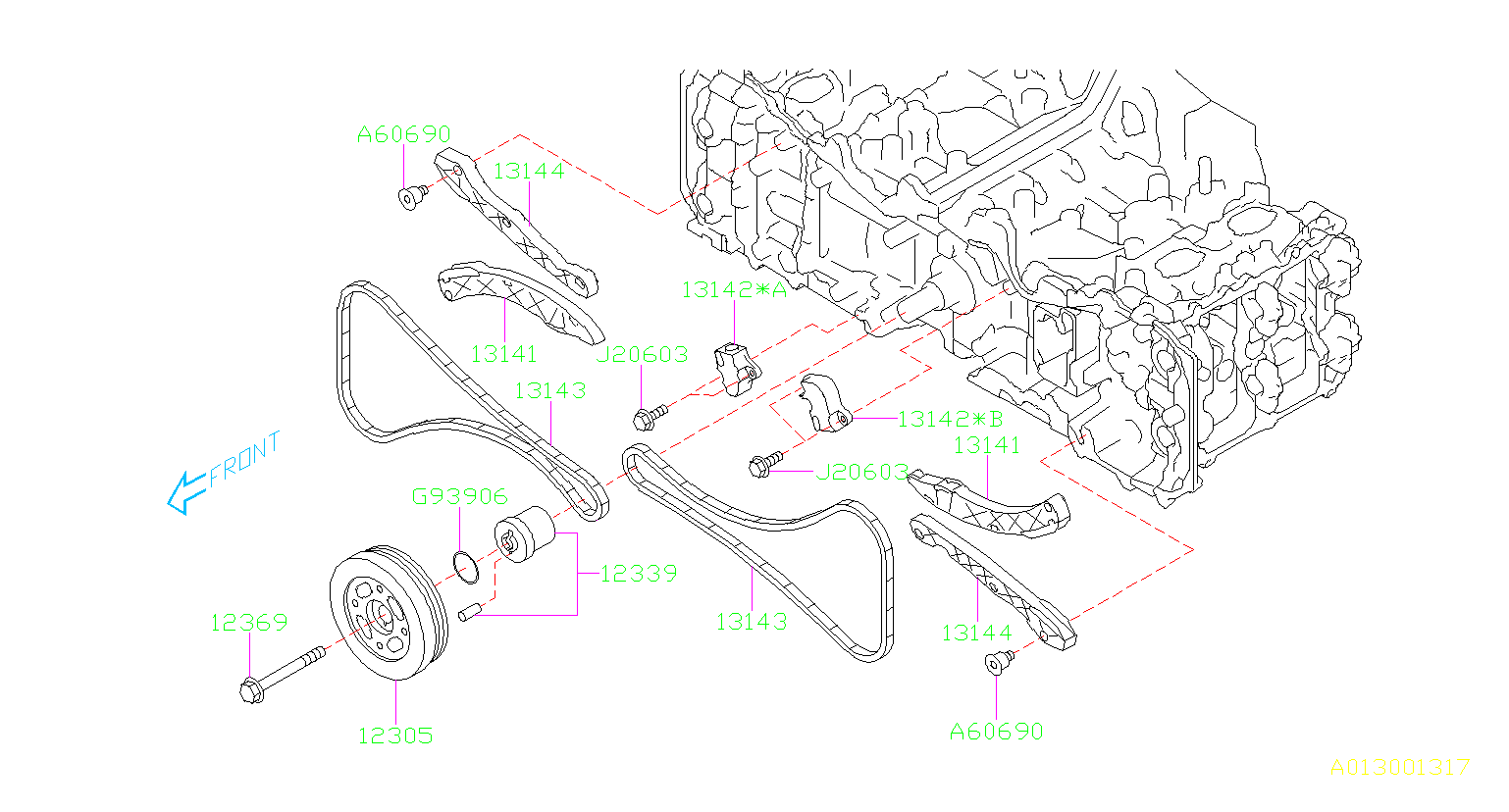 Subaru BRZ Engine Timing Chain Tensioner. CAMSHAFT, BELT