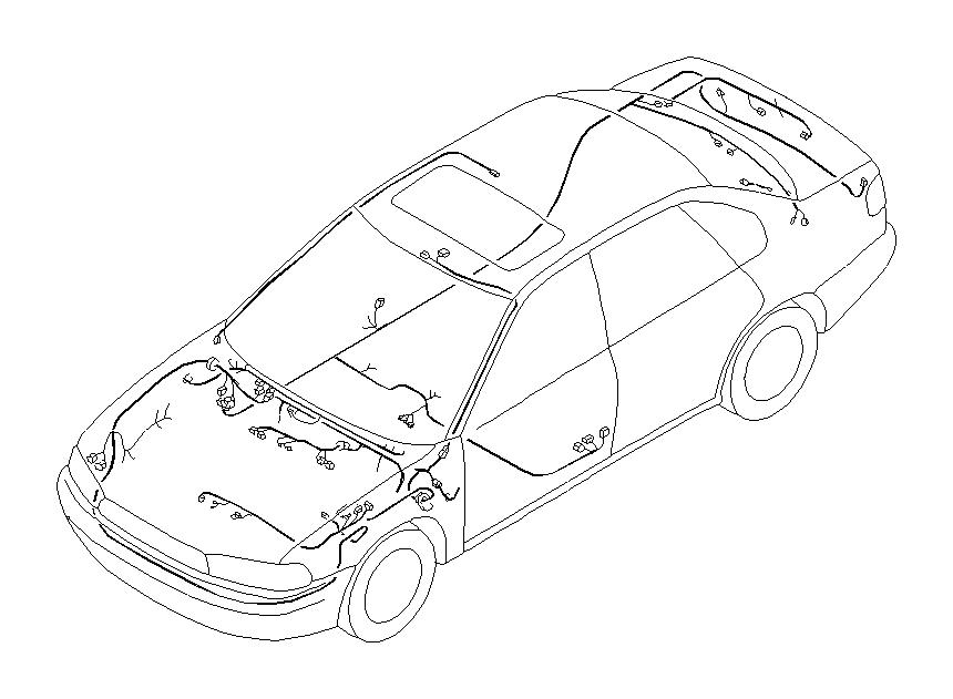 Subaru Legacy Harness-rear. Main, wiring, tcs, electrical