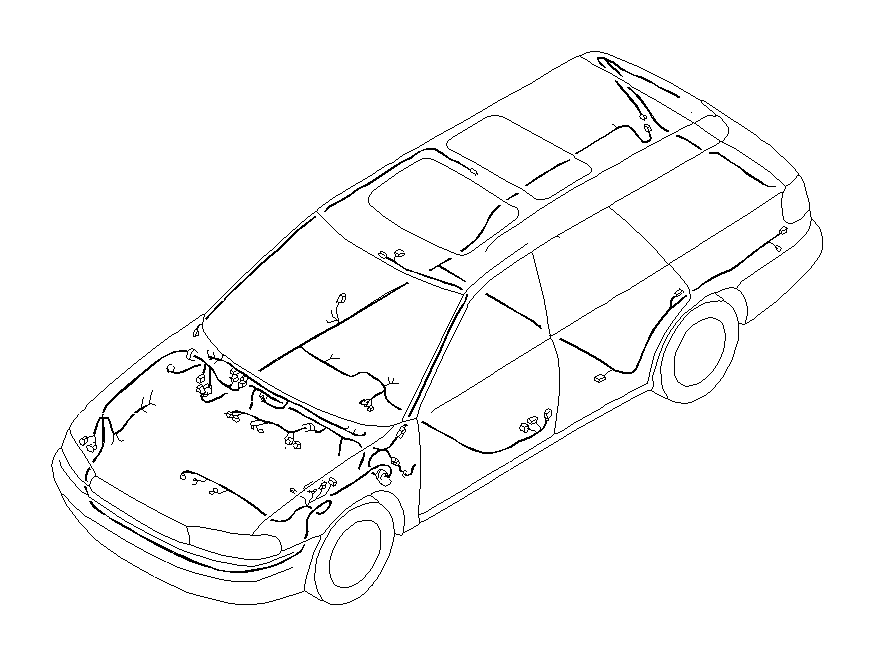 Subaru Baja Cord Instrument Panel Meter. EARTH Cord