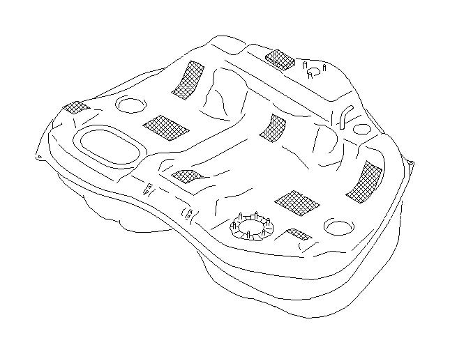 Subaru Legacy Fuel Tank. Tank Complete Fuel. FRONT, Engine