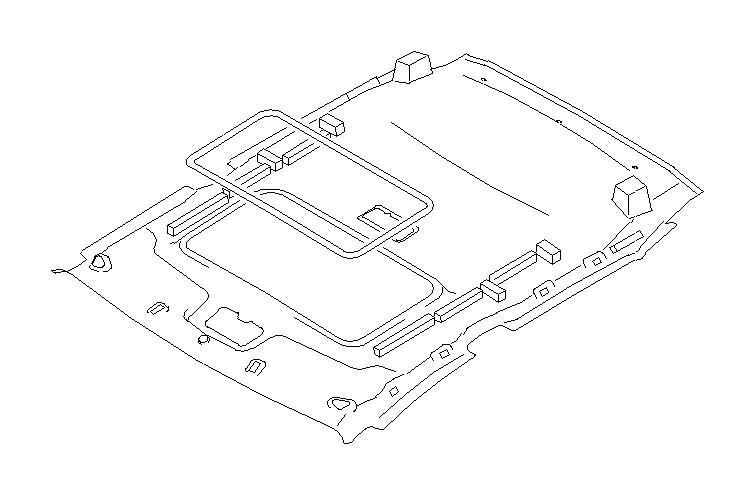 Subaru Legacy Headliner (Right, Front, Grey