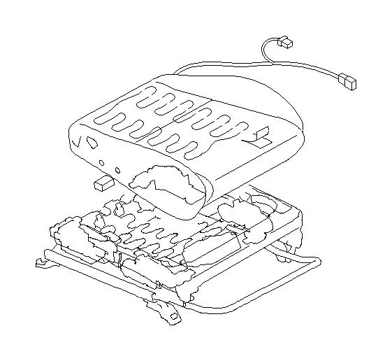 Subaru Legacy Heater unit-front seat cushion. Backrest