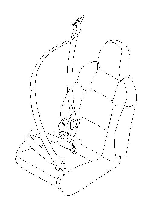 Subaru Legacy Seat Belt Lap and Shoulder Belt (Left, Front