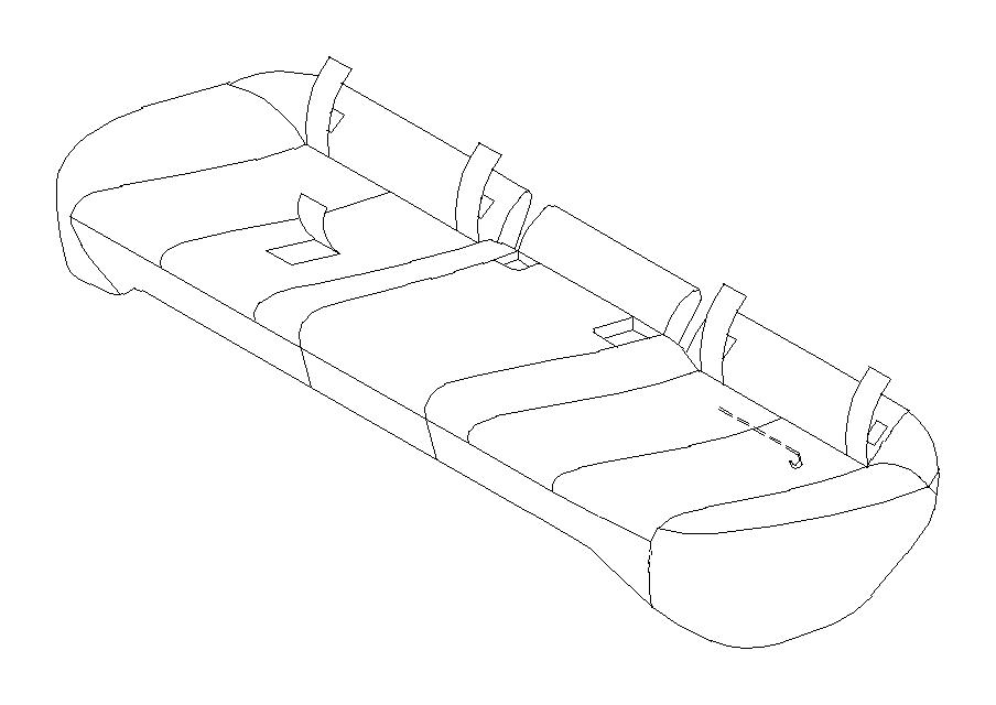 Subaru Legacy Seat Cover (Rear). Cushion, Used, Material