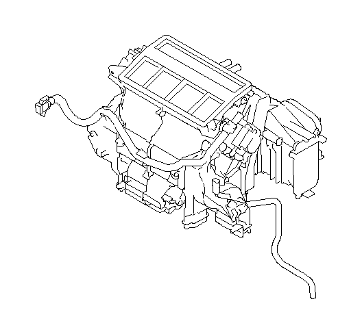 Subaru Outback Heater unit&blower assembly. Manual. System