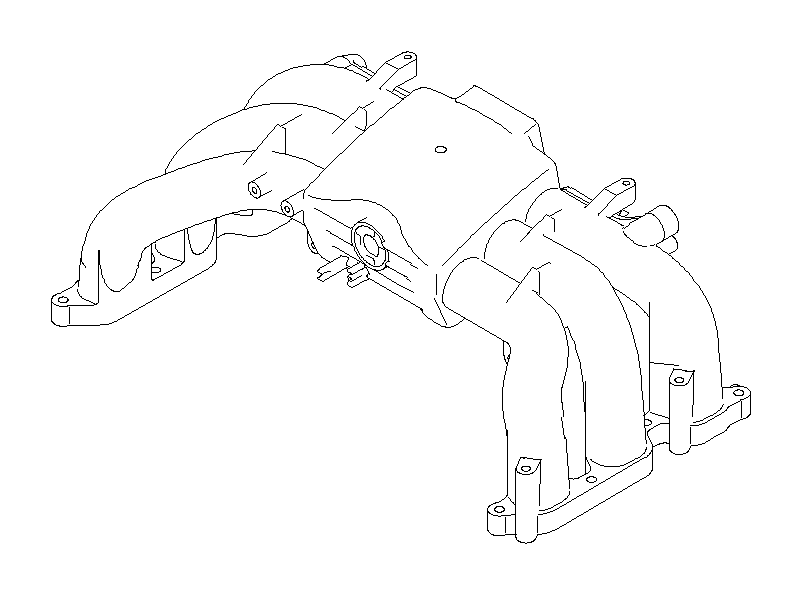 Subaru Legacy Engine Intake Manifold. Emissions, Purge