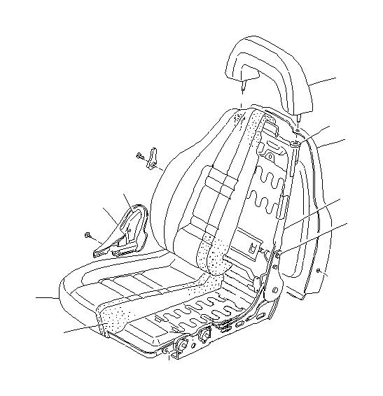 Subaru SVX Lumber lever. Beige. Front, seat, power