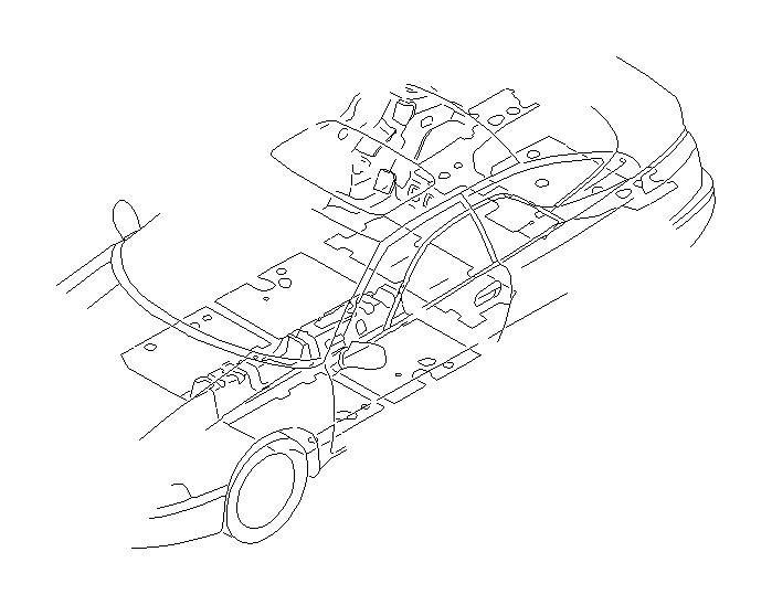 Subaru SVX Silencer-rear floor, left. Interior