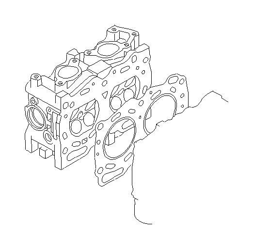 Subaru Legacy Engine Cylinder Head Gasket. SYSTEM, Cooling