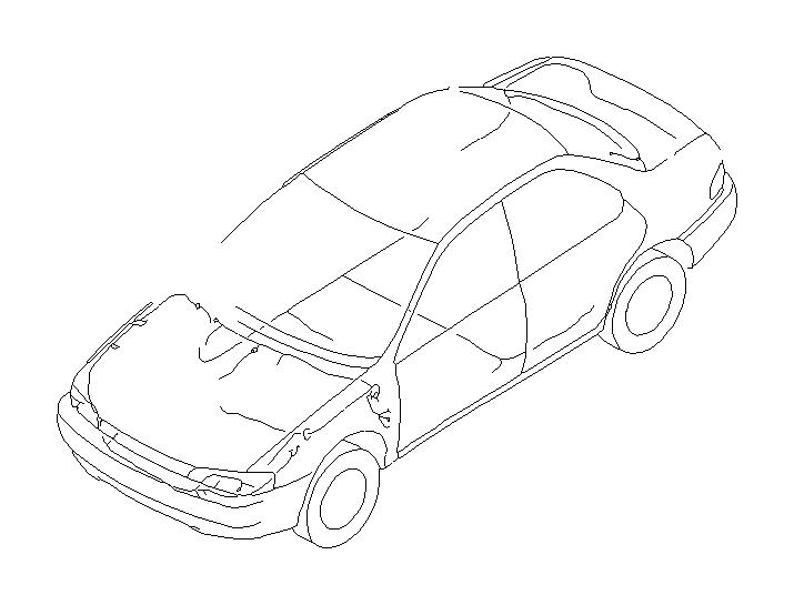 Subaru Impreza Wiring Harness. (Left, Front). MAIN