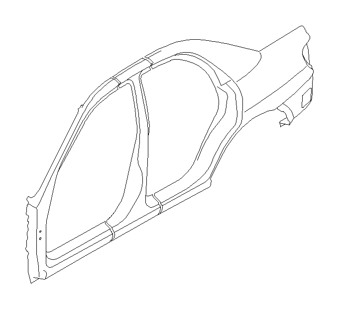 Subaru Impreza Pillar complete-center, outer left. Body