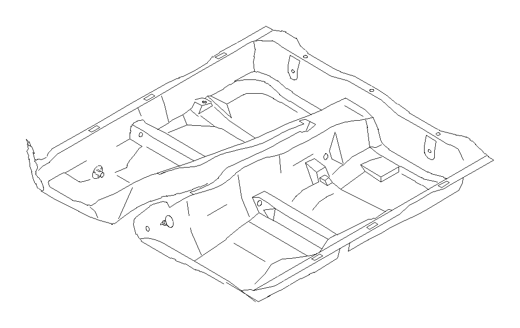 Subaru STI Clip a-mat floor. Front, interior, gray, blue