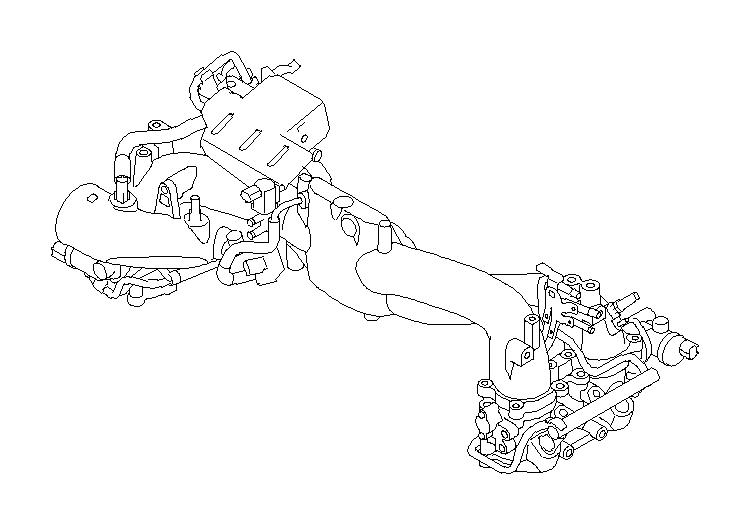 Subaru WRX Hose Vacuum Control. MANIFOLD, PIPE, INTAKE