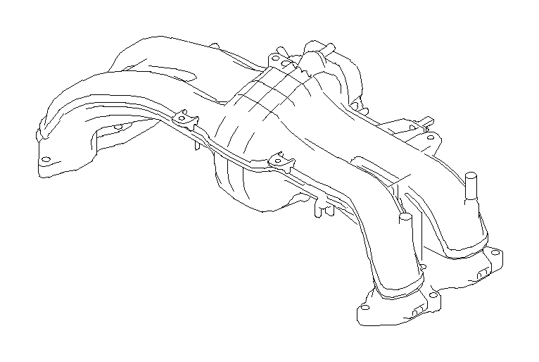 Subaru Forester Engine Intake Manifold. BODY, GASKET