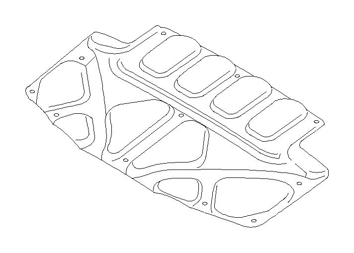 Subaru Forester Hood Insulation Pad (Front). Insulator