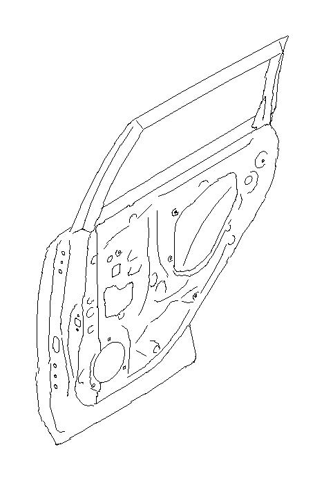 Subaru Forester Panel assembly-rear door, right. Slide