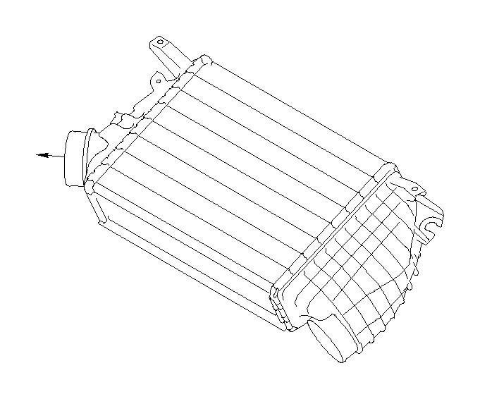 Subaru WRX Intercooler. INTER Cooler Complete