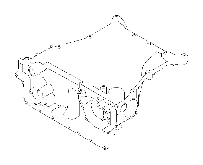 Subaru Tribeca Oil pan complete-upper. Engine, cooling