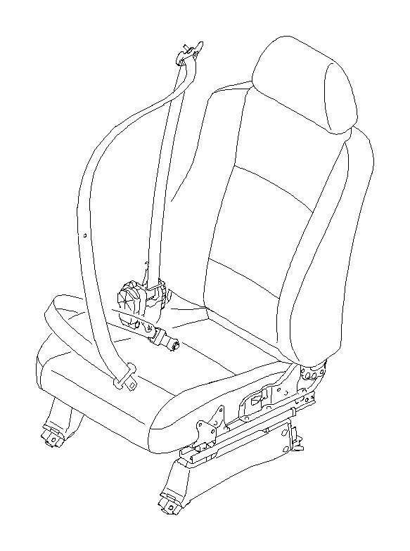 Subaru Tribeca Seat belt-outer, front left. Interior