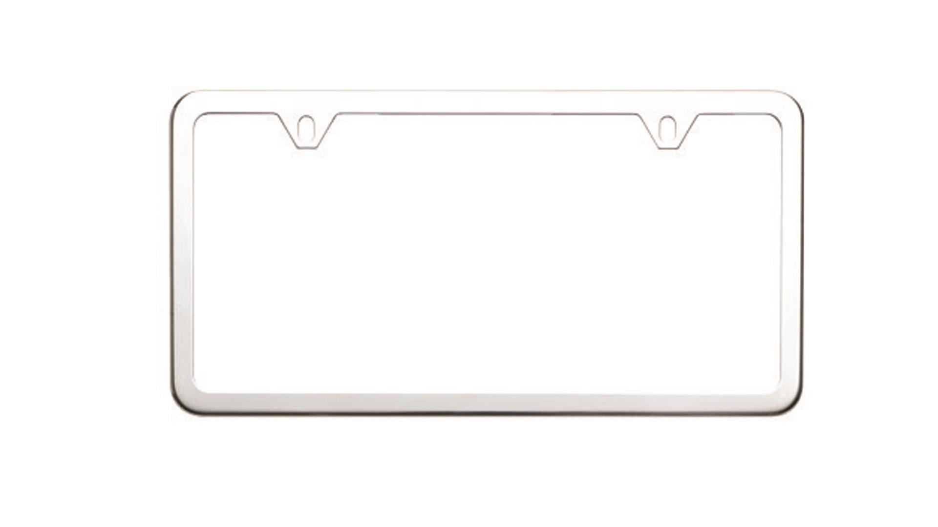 Subaru Forester License Plate Frame, Slim Line, Stainless