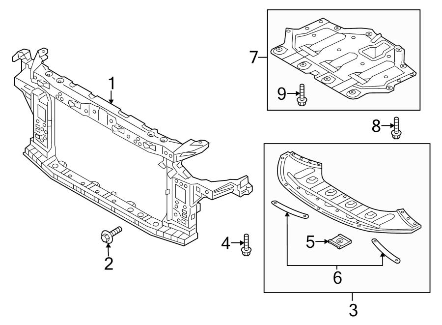 Hyundai Sonata Radiator Support Splash Shield (Front