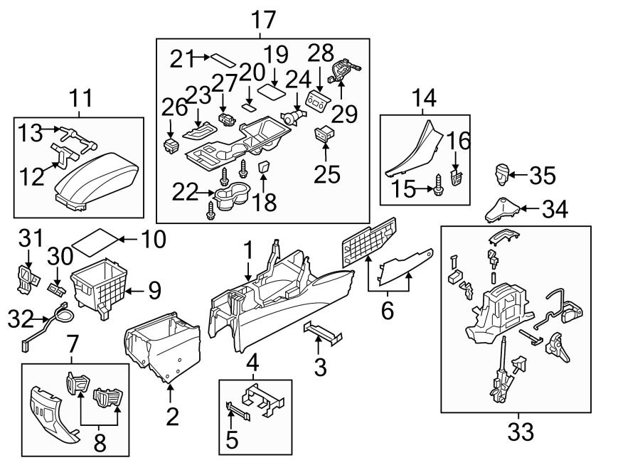 Hyundai Sonata Armrest. Console. Armrest part of the floor