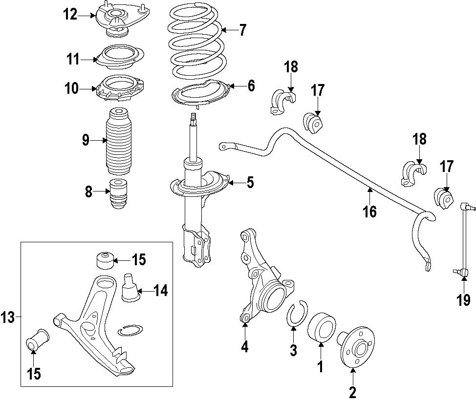 Hyundai Elantra Suspension Strut (Right, Front