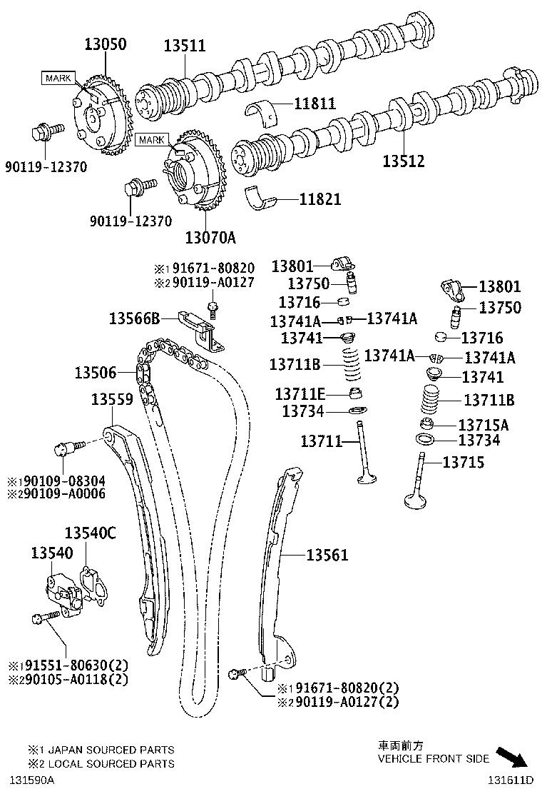 2011 Toyota Sienna Engine Timing Chain. Expert, Comes