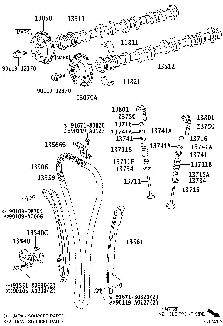 2015 Toyota Camry Engine Timing Chain Guide. Guide for the