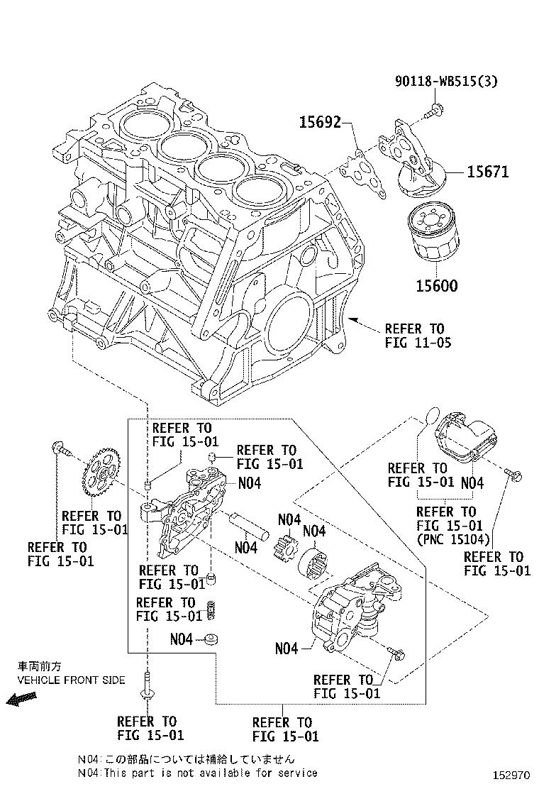 2017 Toyota Yaris iA Engine Oil Filter Adapter. Bracket