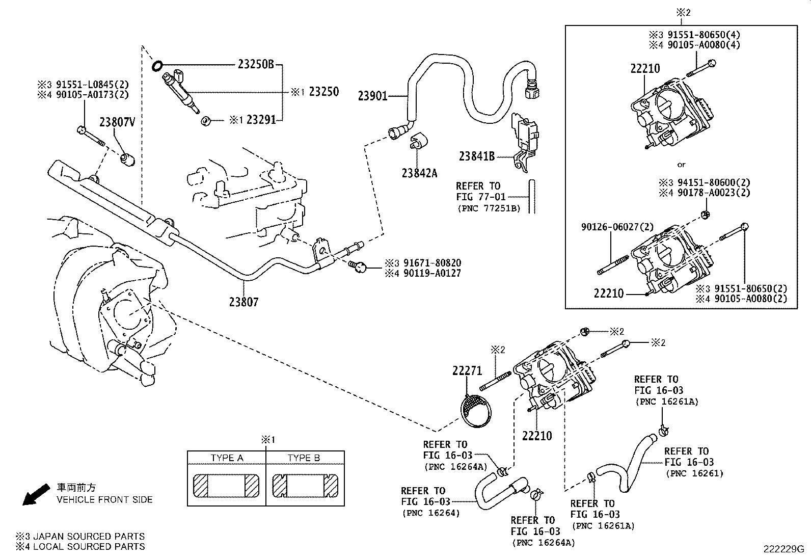 2013 Toyota Corolla Injector assembly, fuel
