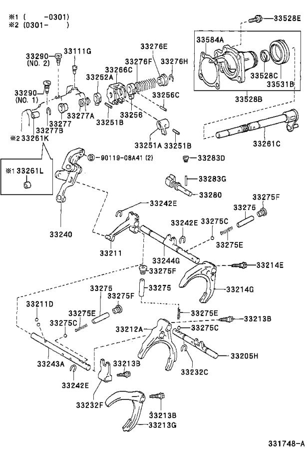 [Exploded View 2011 Toyota Matrix Manual Transmission