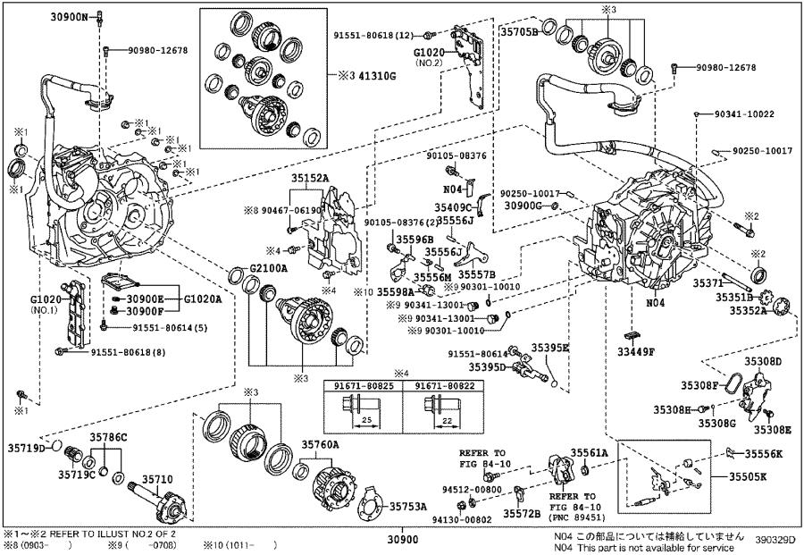 2011 Toyota Camry Shim(for counter driven gear). Transaxle