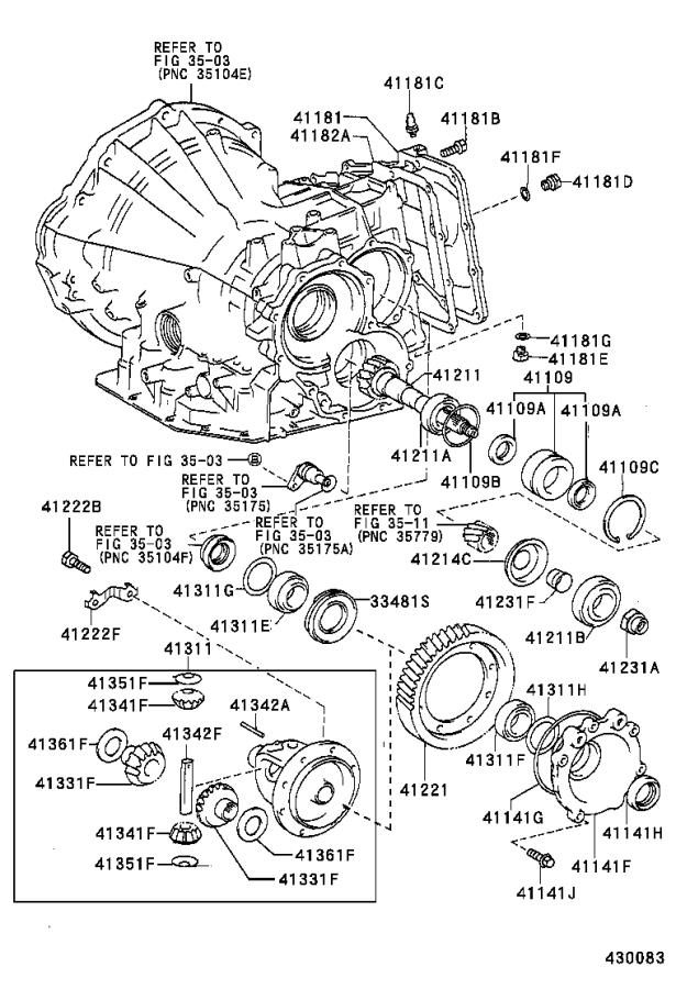 1996 Toyota Corolla Manual Transmission Differential