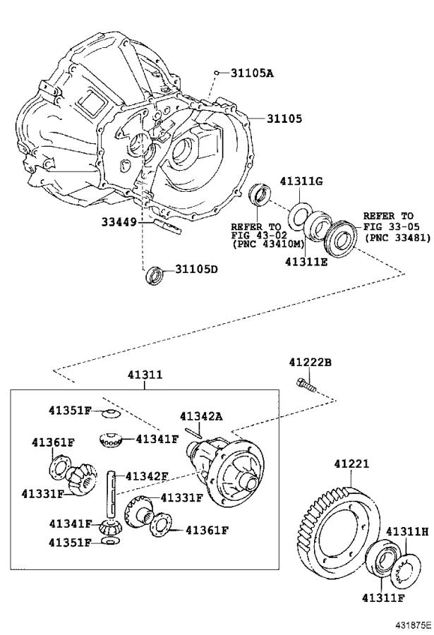 1993 Toyota Corolla Manual Transmission Differential