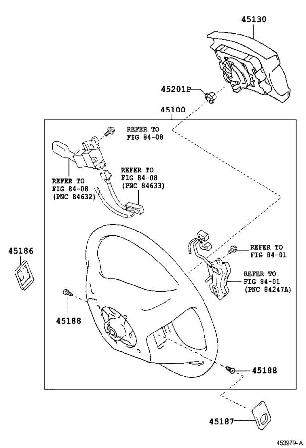 2017 Toyota Tacoma Cover, steering wheel, lower no. 2