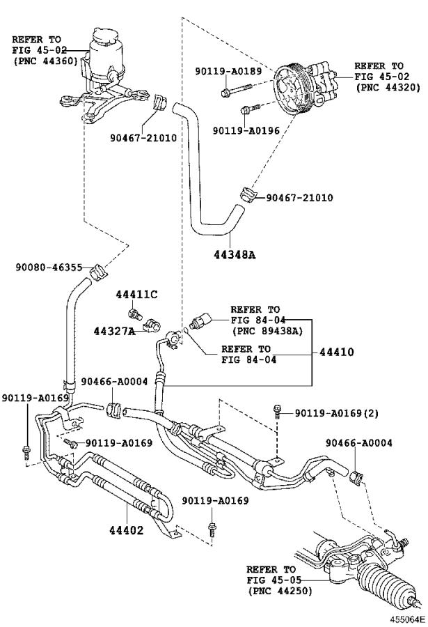 2010 Toyota Sequoia Tube assembly, pressure feed. Brakes