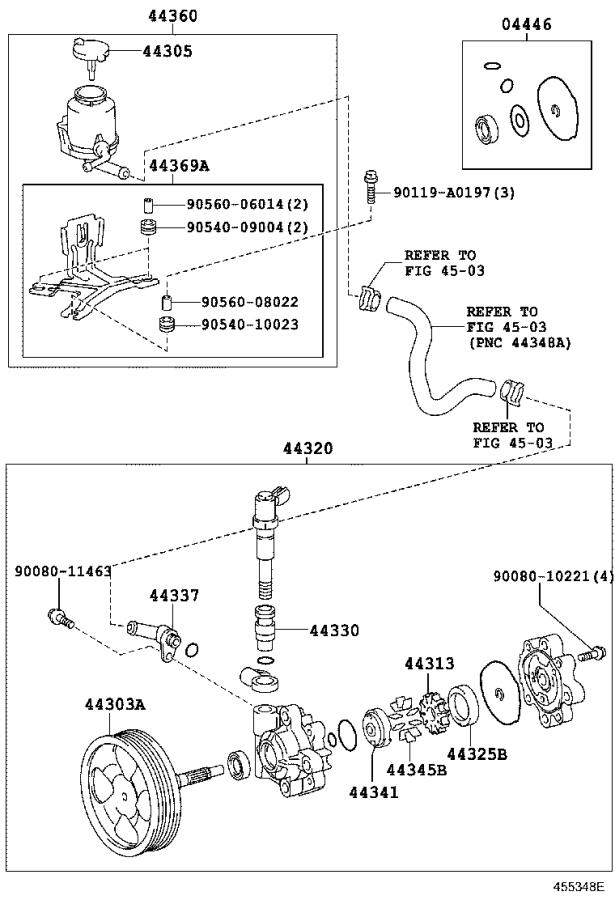 2010 Toyota Tundra Valve assembly, flow control